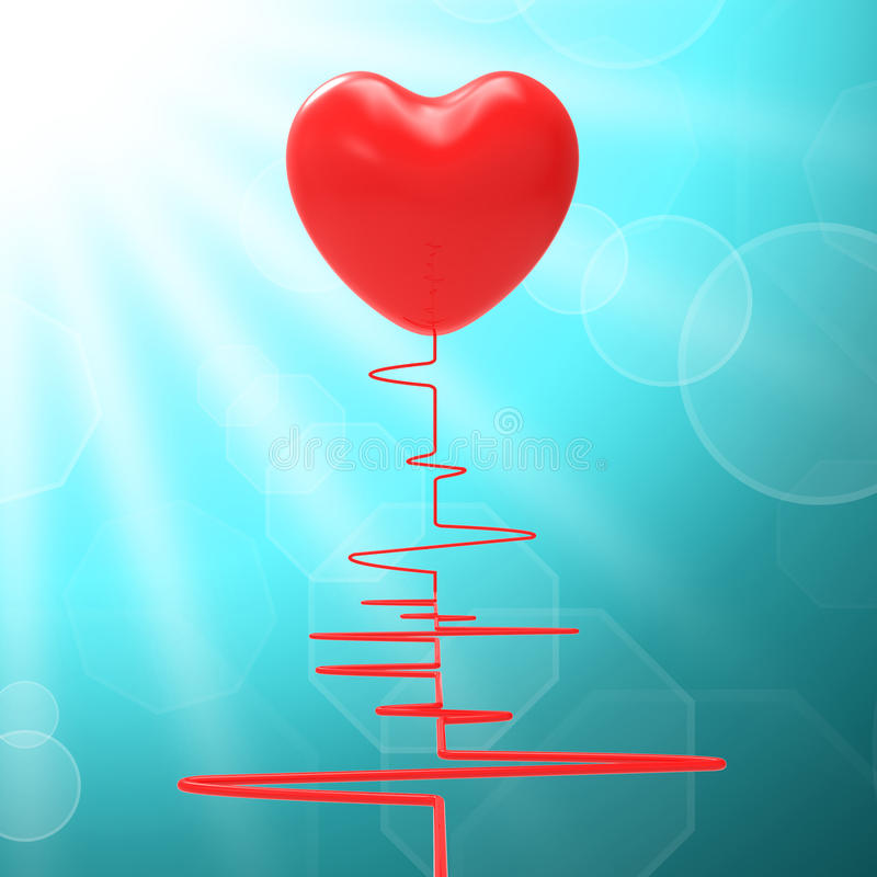 Serce Na Electro Znaczy Zdrowego związek Lub ilustracji