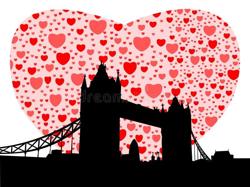 serce na most tower ilustracji