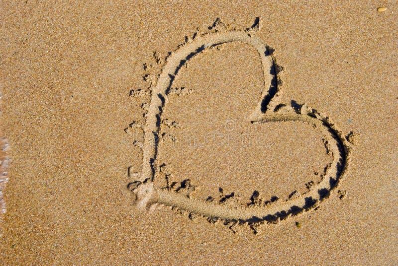 serce na plaży morza obrazy royalty free