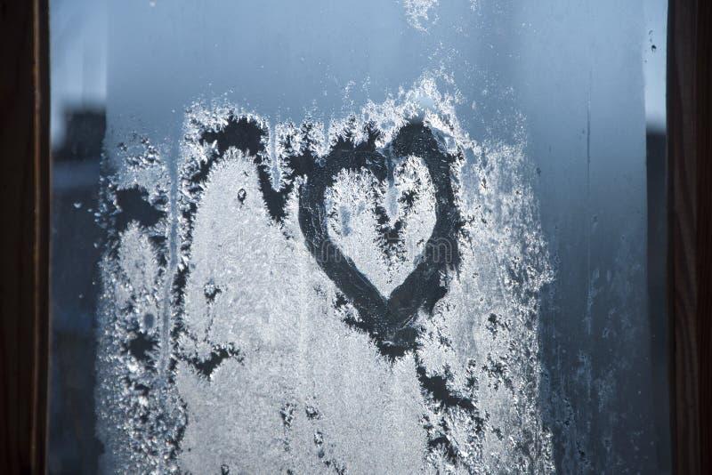 Serce na szkło obrazy stock