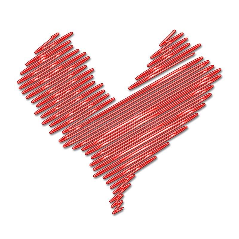 Download Serce neon ilustracji. Ilustracja złożonej z valentines - 142800