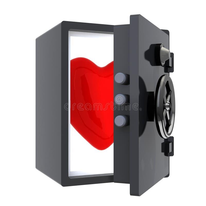 Serce ochraniający w skrytce ilustracji