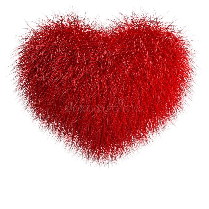 Serce od czerwonego futerka ilustracja wektor