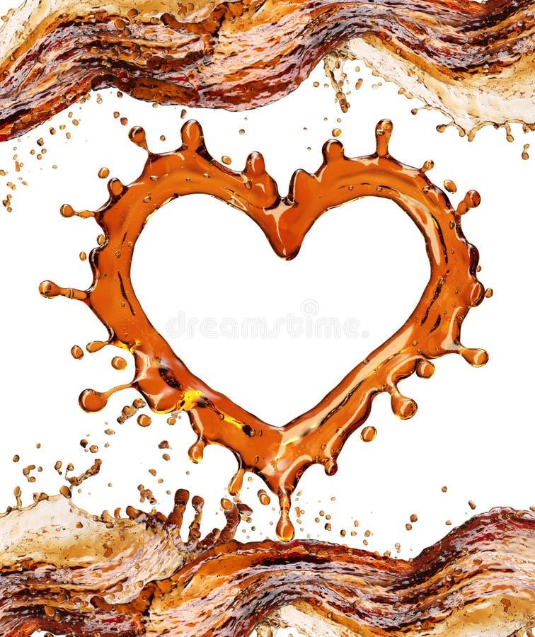 Serce od koli pluśnięcia z bąblami odizolowywającymi na bielu obrazy stock