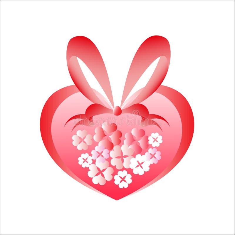 Serce od kwiatów obrazy royalty free