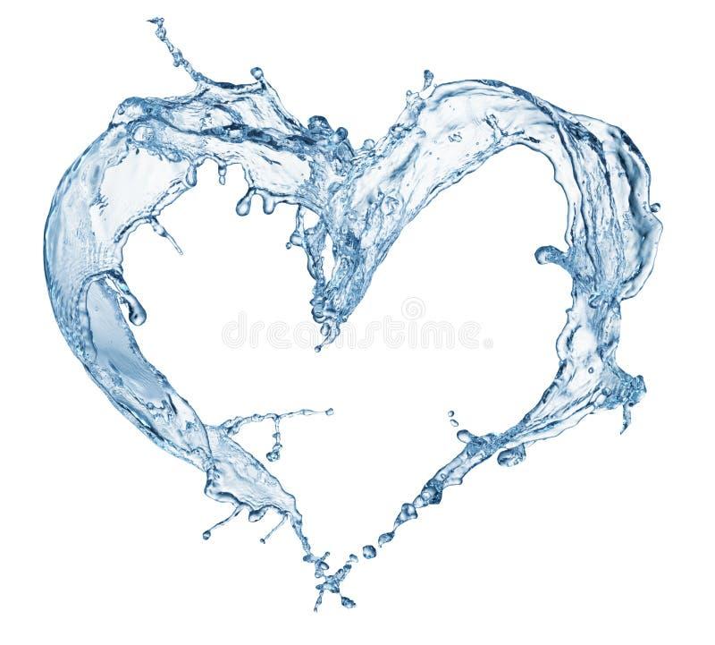 Serce od wodnego pluśnięcia z bąblami fotografia stock