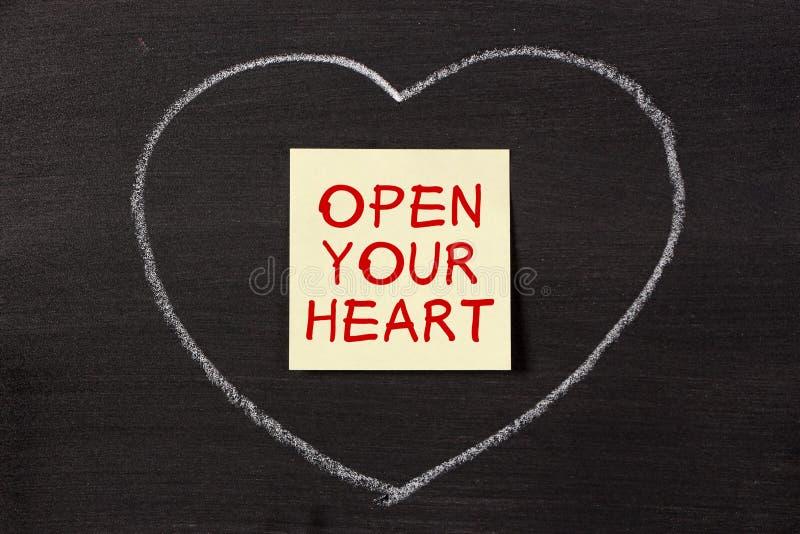 serce otwiera twój zdjęcia stock