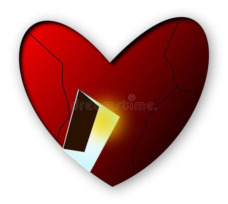 serce otwiera twój ilustracja wektor