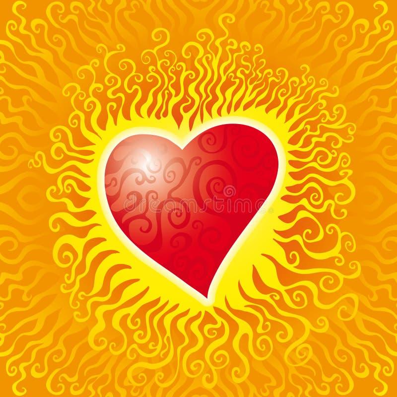 serce płonie royalty ilustracja