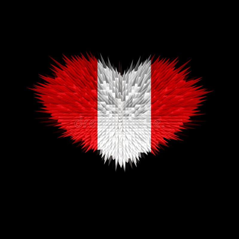 Serce Peru flaga royalty ilustracja