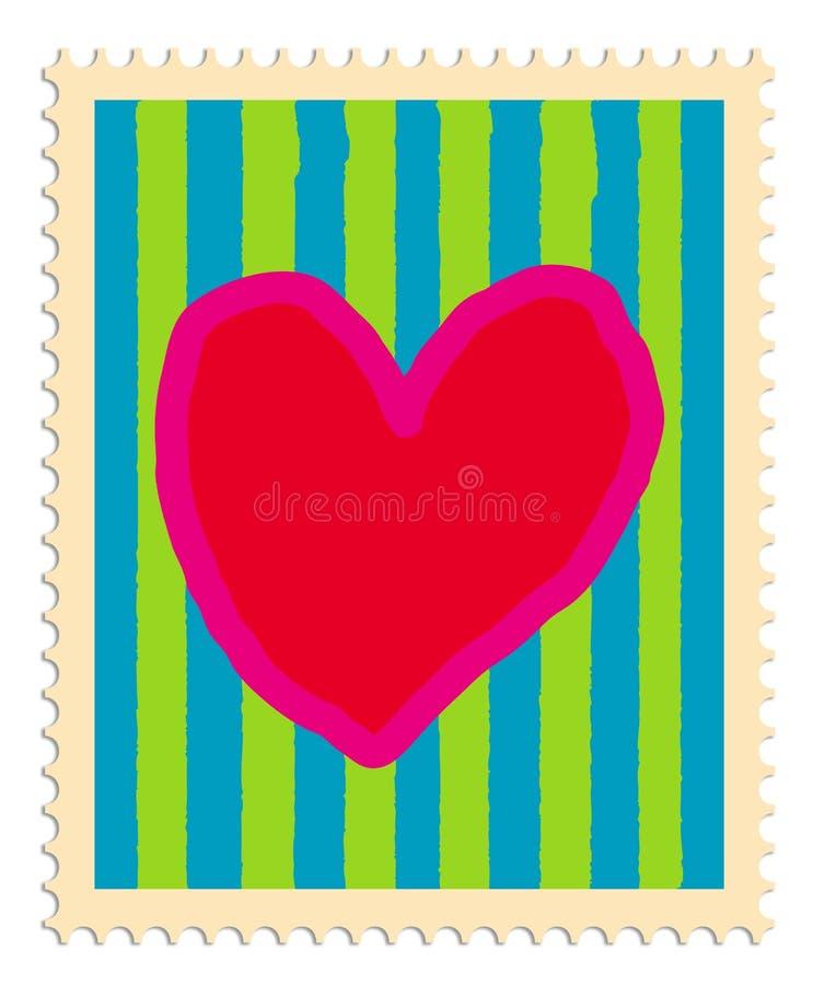 serce pieczęć royalty ilustracja