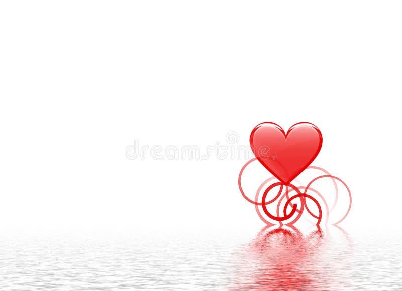 serce pluskocząca woda ilustracja wektor