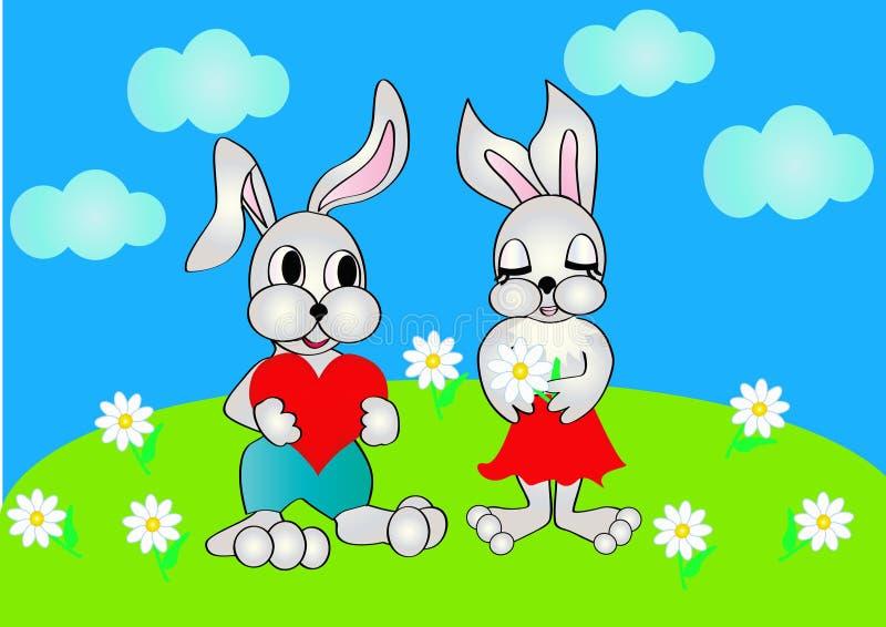 serce przedstawia królika ilustracji