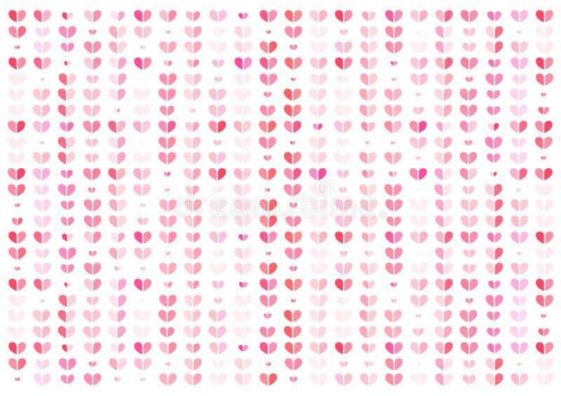 Serce, różowego abstrakcjonistycznego tła wektorowa ilustracja, walentynki pojęcie ilustracji
