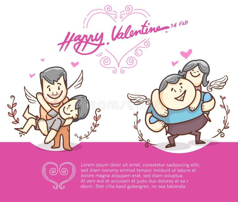 Serce rama i charakter, ręka rysująca, serca kształtujemy Walentynki ` s dnia projekta elementy wektor i doodle ilustracji