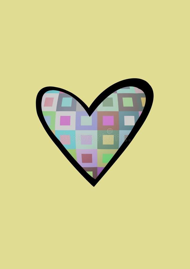 serce retro ilustracji