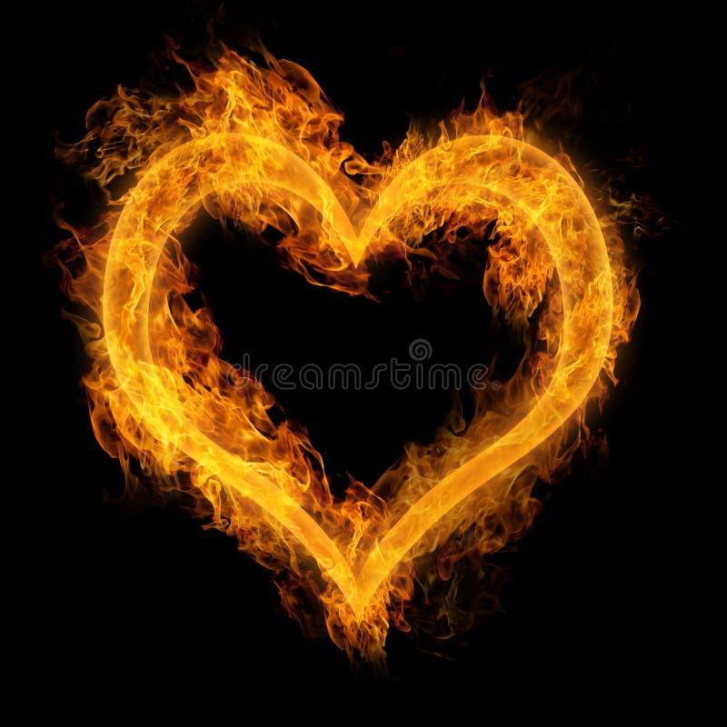 Serce robić ogień ilustracja wektor