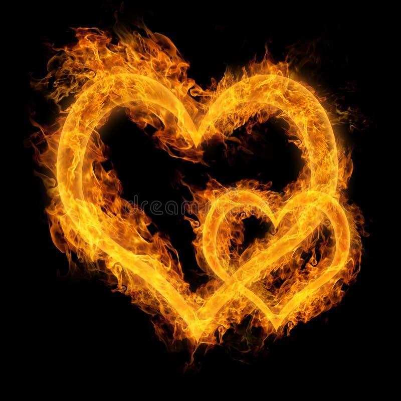 Serce robić ogień ilustracji