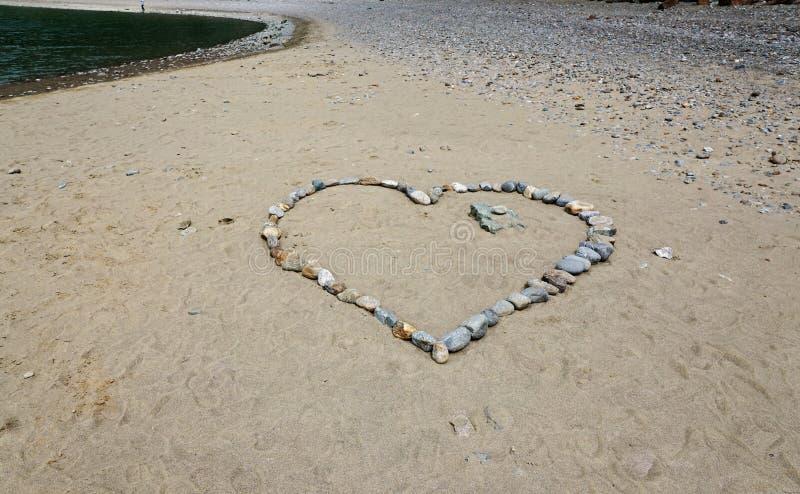Serce robić z kamieniami zdjęcie royalty free