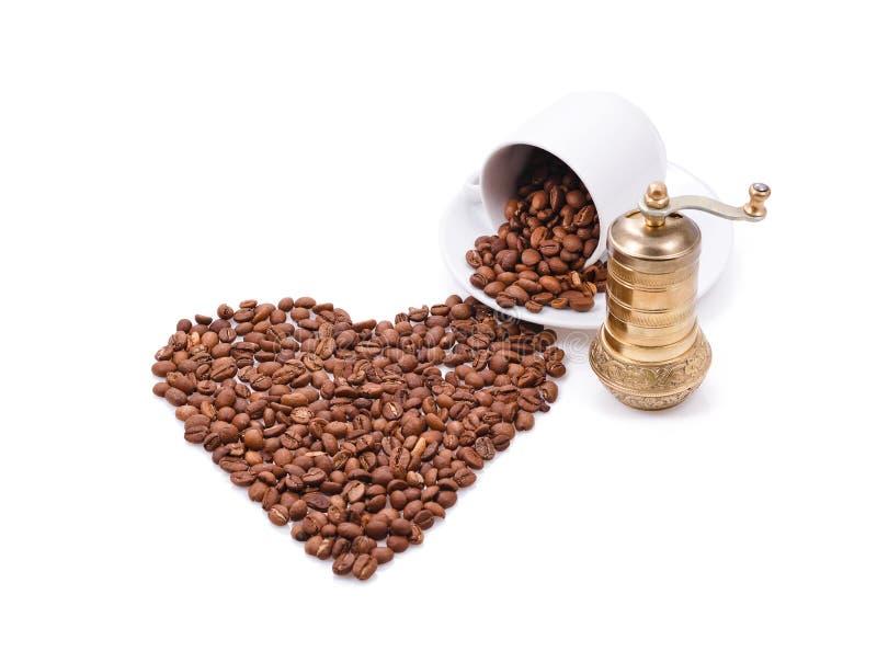 Download Serce robić kawowe fasole obraz stock. Obraz złożonej z miłość - 28960687