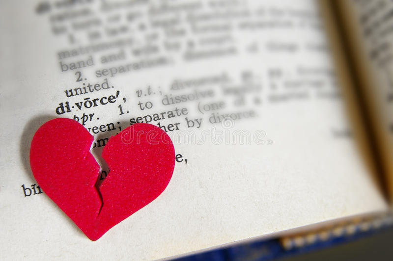 Serce rozwód obrazy stock