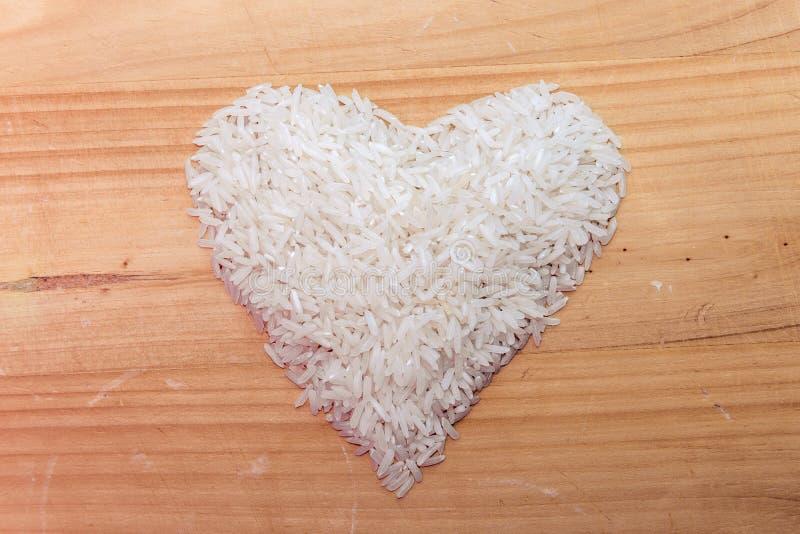 Serce ryż Zdrowa dieta jest dobra dla ciała obrazy royalty free