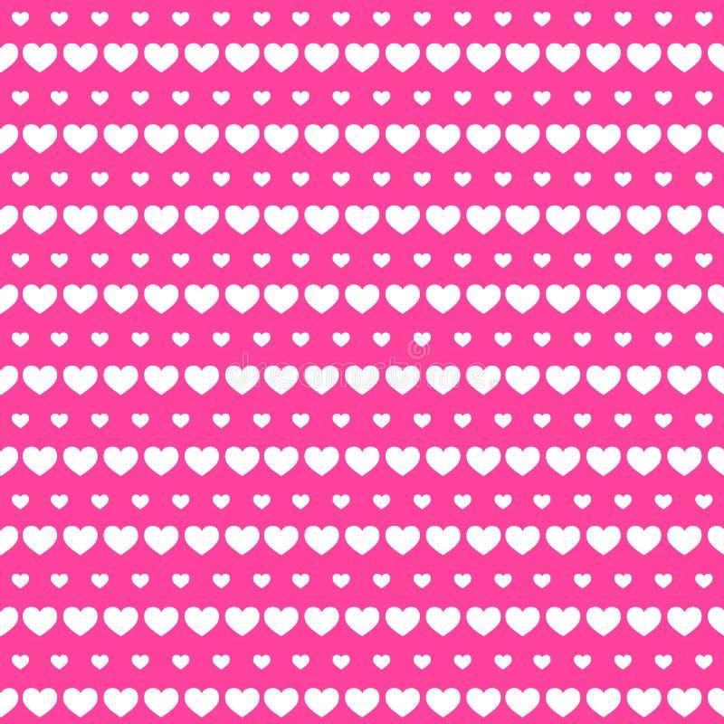 Serce rzędu tła Bezszwowa miłość royalty ilustracja