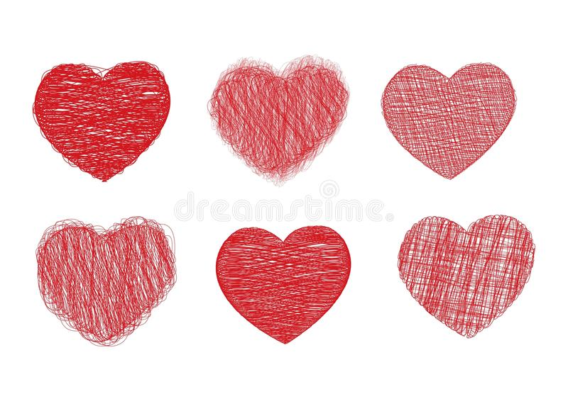 serce skrobanina ilustracja wektor