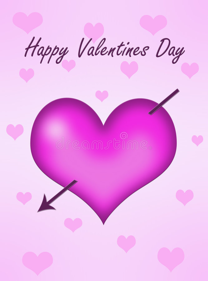 serce strzałkowate różowy ilustracji