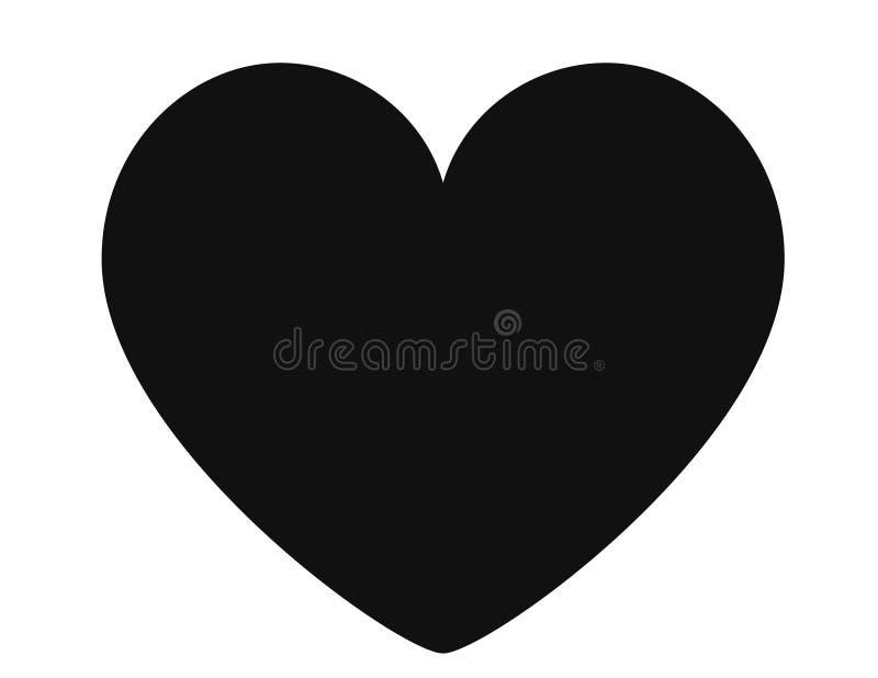 Serce, symbol mi?o?? i walentynka dzie?, Płaska Czerwona ikona Odizolowywająca na Białym tle dla ogólnospołecznej medialnej reakc royalty ilustracja