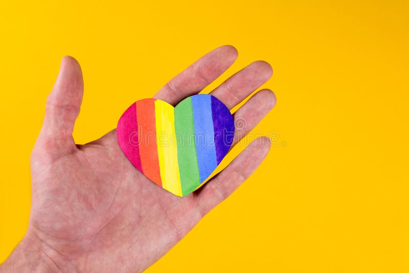 Serce t?czy LGBT flaga zdjęcia stock