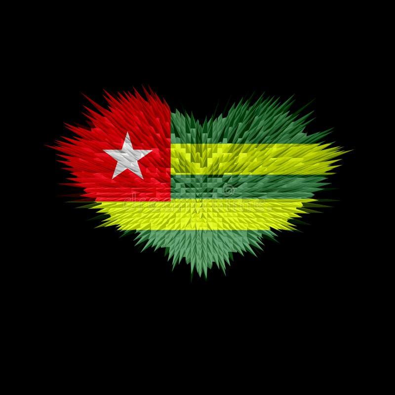 Serce Togo flaga ilustracji