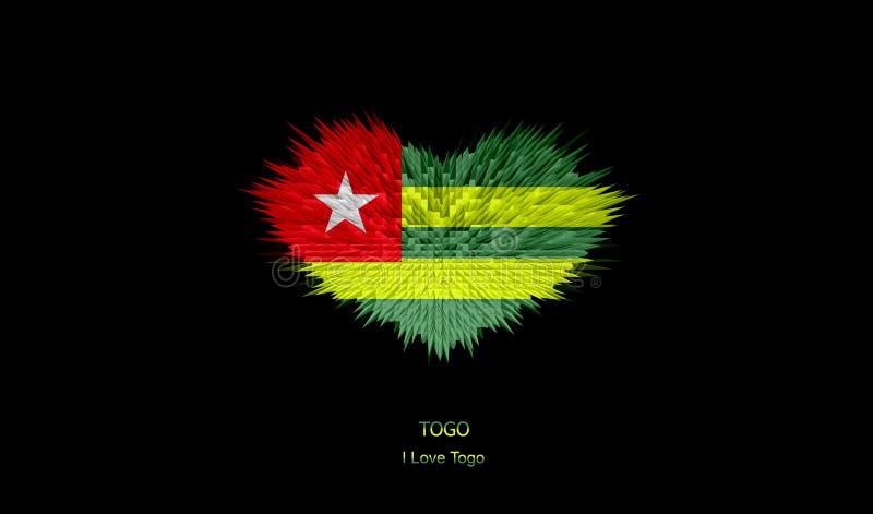 Serce Togo flaga royalty ilustracja