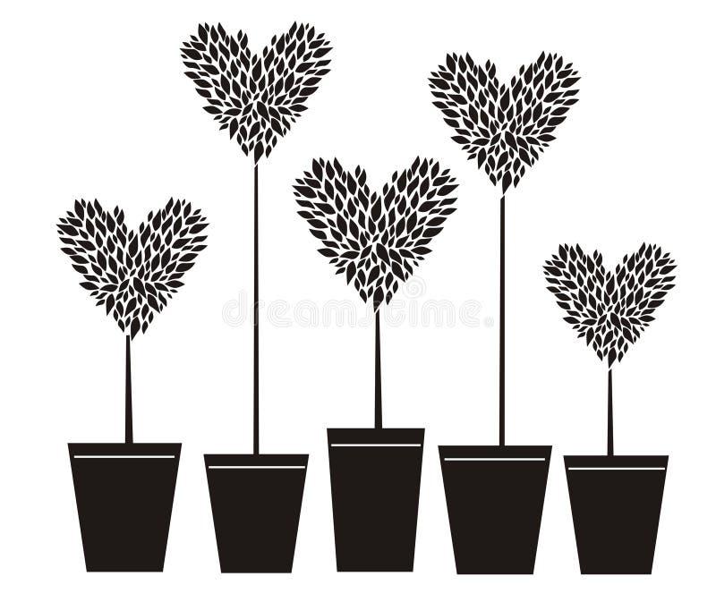 serce topiary royalty ilustracja
