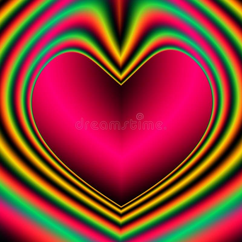 serce valentines dni zaproszenia royalty ilustracja