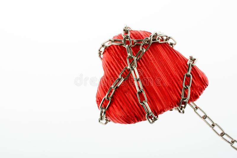 Serce w łańcuchu zdjęcia royalty free