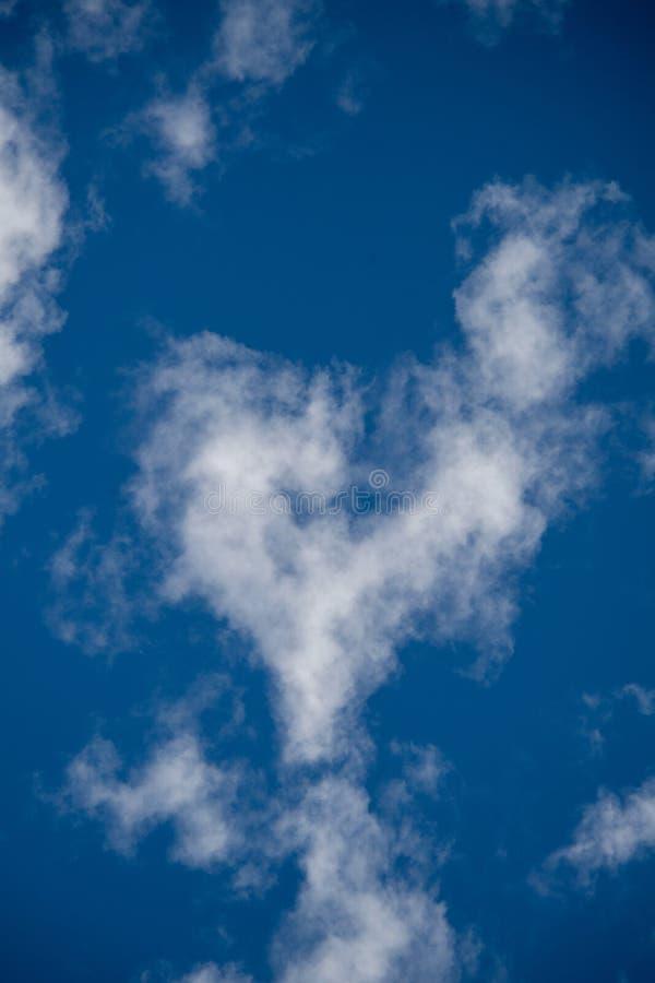 Serce w chmurze obrazy stock