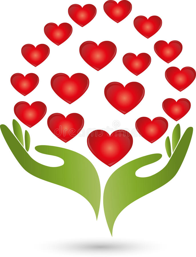 serce w czerwieni ilustracji