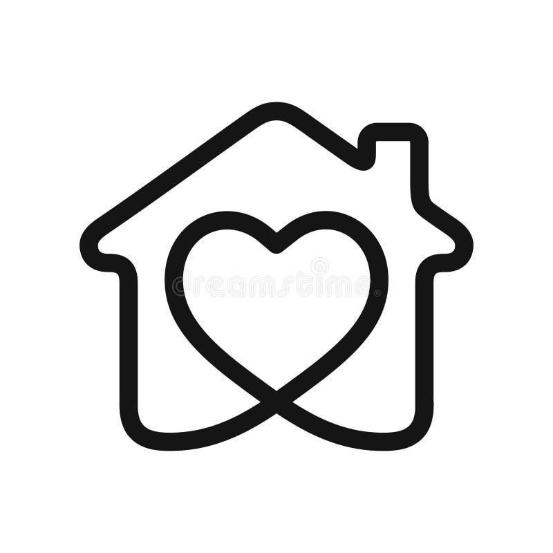 Serce w domu royalty ilustracja