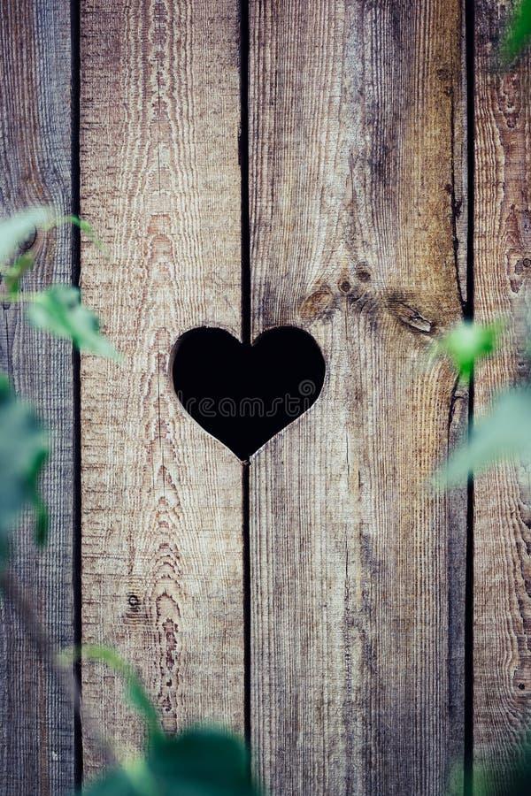 Serce w drewnianej desce fotografia royalty free