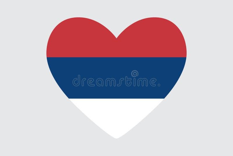 Serce w kolorach Serbia flaga, ilustracji