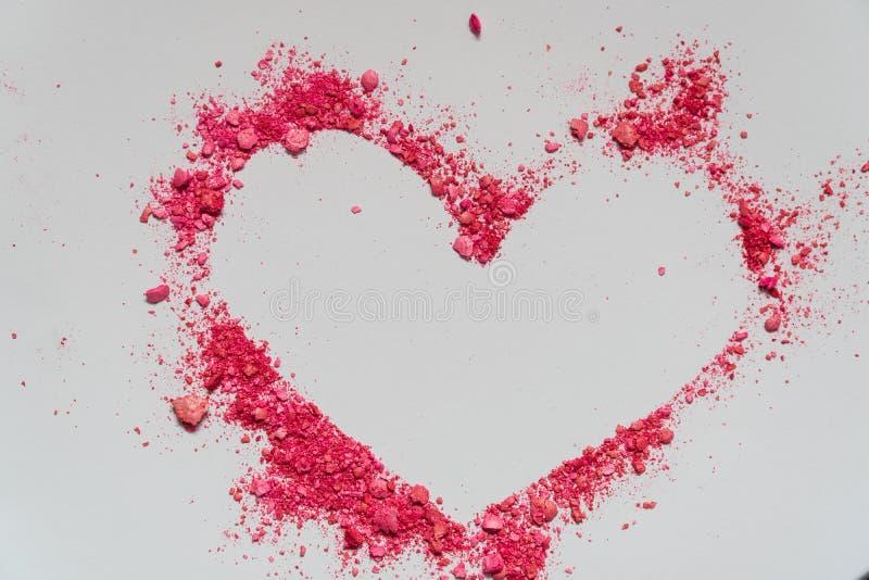 Serce Walentynki ` s dnia karty piaska koloru kierowy kształt obrazy stock