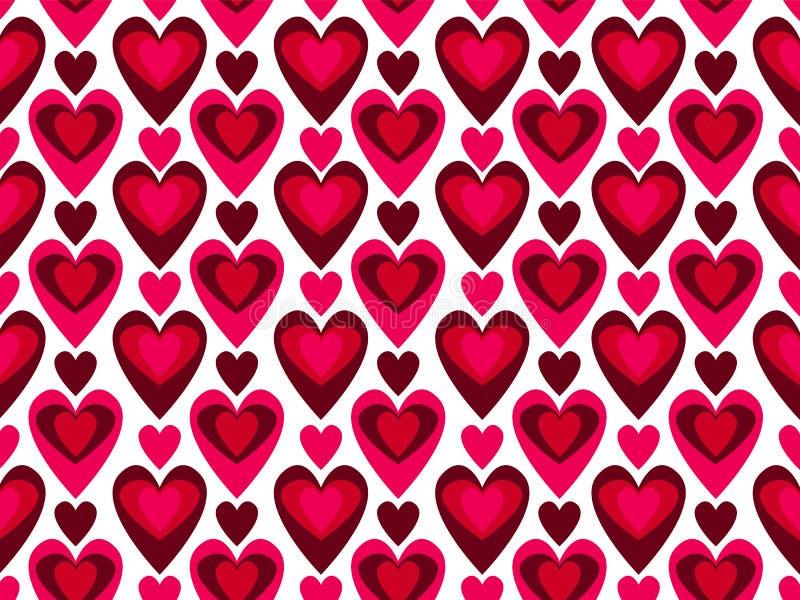 serce wektor deseniowy bezszwowy ilustracja wektor