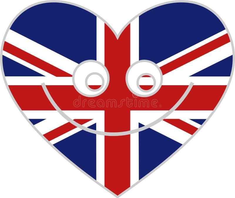 serce wielkiej brytanii royalty ilustracja