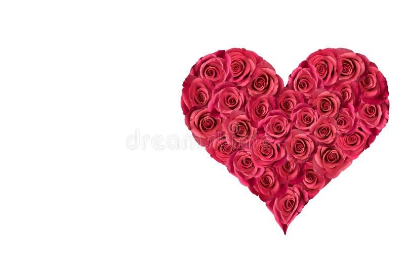 Serce wypełniający z różami 3 zdjęcia royalty free