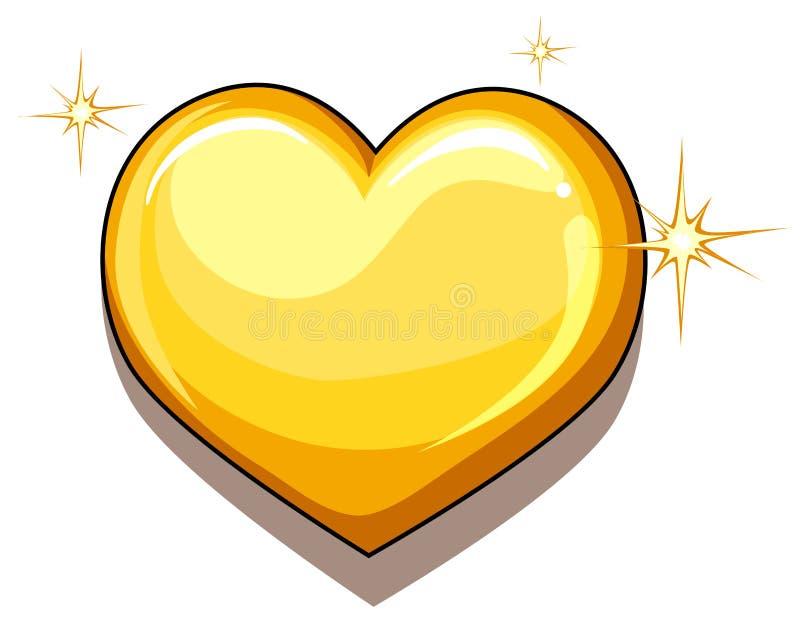 Serce złoto ilustracji