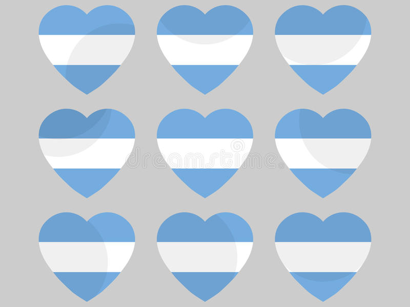 Serce z flaga Argentyna może argentina generacji półkule dowiedzieć nadziei kocham następny nasz s do południowego wektor ilustracja wektor