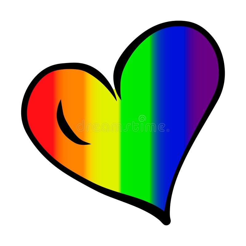 Serce z LGBT symbolami dalej ilustracja wektor