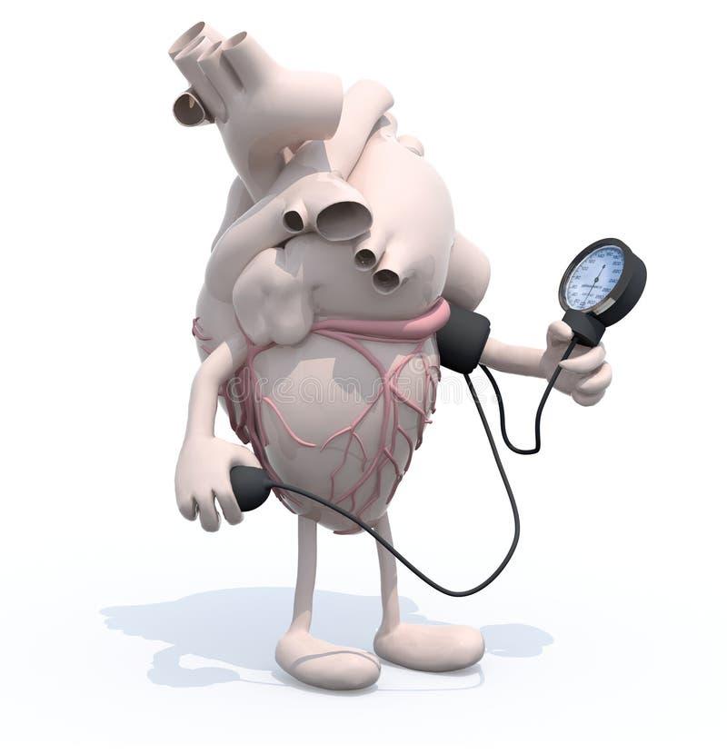 Serce z ręk i nóg ciśnienia krwi miarą royalty ilustracja