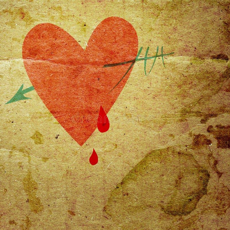 Serce z strzała ilustracji